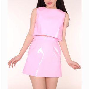 Pink pvc set 💘